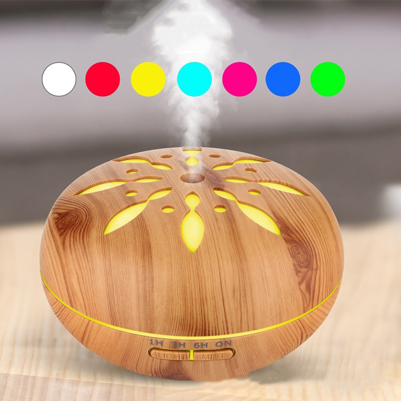 Ultrasonic Humidifier Aromatherapy Oil Diffuser Cool Mist 7 Colors LED Aroma Essential Oil Diffuser Waterless Shut Off Timer