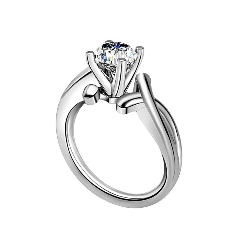 Argent sterling Bijoux Classique Mariage Femmes Anneaux Bijoux Finger Ring silver