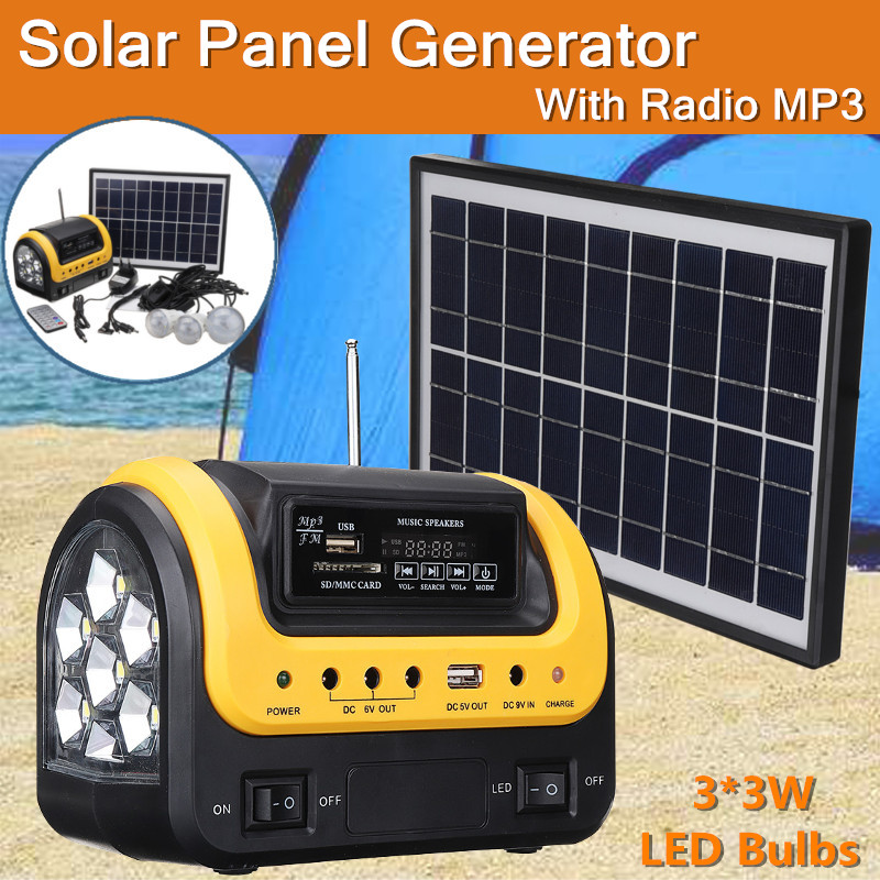 Dynamo solar Portable generator  Emergency outdoor  with radio MP3 solar flashlight mobile power supply for electronic products