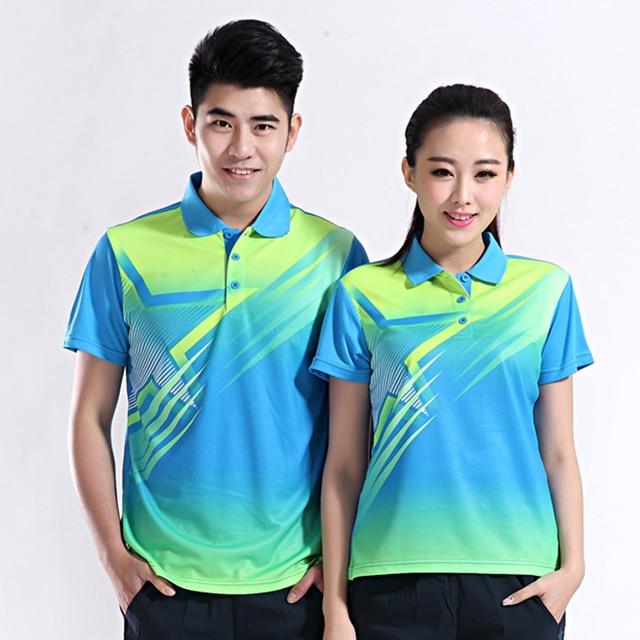 2016 camisetas deportivas de bádminton de secado rápido hombres y mujeres  estrella diseño del tenis de b04686cbb5f62