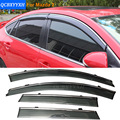 Car Stylingg Awnings Shelters 4pcs/lot Window Visors For Mazda 2 Hatchback/ Sedan 2010-2016 Sun Rain Shield Stickers Covers
