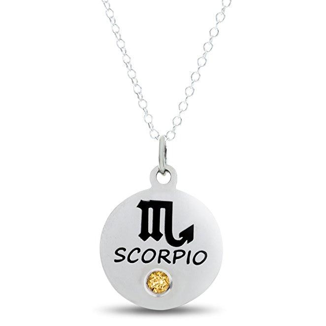 Zodiac Scorpio Birthstone Necklace New Arrival Fashion Jewelry Best Birthday Gift for Friend DropshippingYP2982