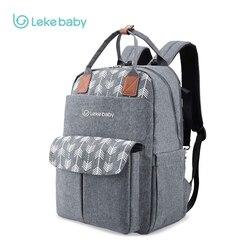 Lekebaby de mamá, maternidad, pañal bolso de gran capacidad bebé bolsa mochila de viaje de diseño de bolsa para el cuidado del bebé