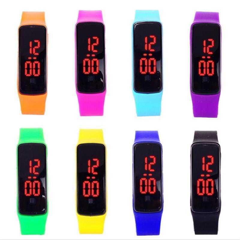 Mode LED Display Digitale Sporthorloge Hot Siliconen Band Kinderen - Herenhorloges