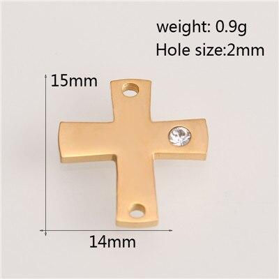 Горячее предложение! Позолоченные/посеребренные подвески из нержавеющей стали, модные подвески в форме Креста в форме звезды, ювелирные изделия, сделай сам, браслет, ожерелье, аксессуары - Окраска металла: AC18265