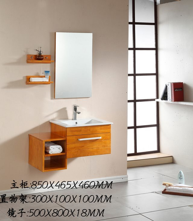 solid wood natural wood  small bathroom vanity  Wall Mounted  bathroom vanity 0283-1051