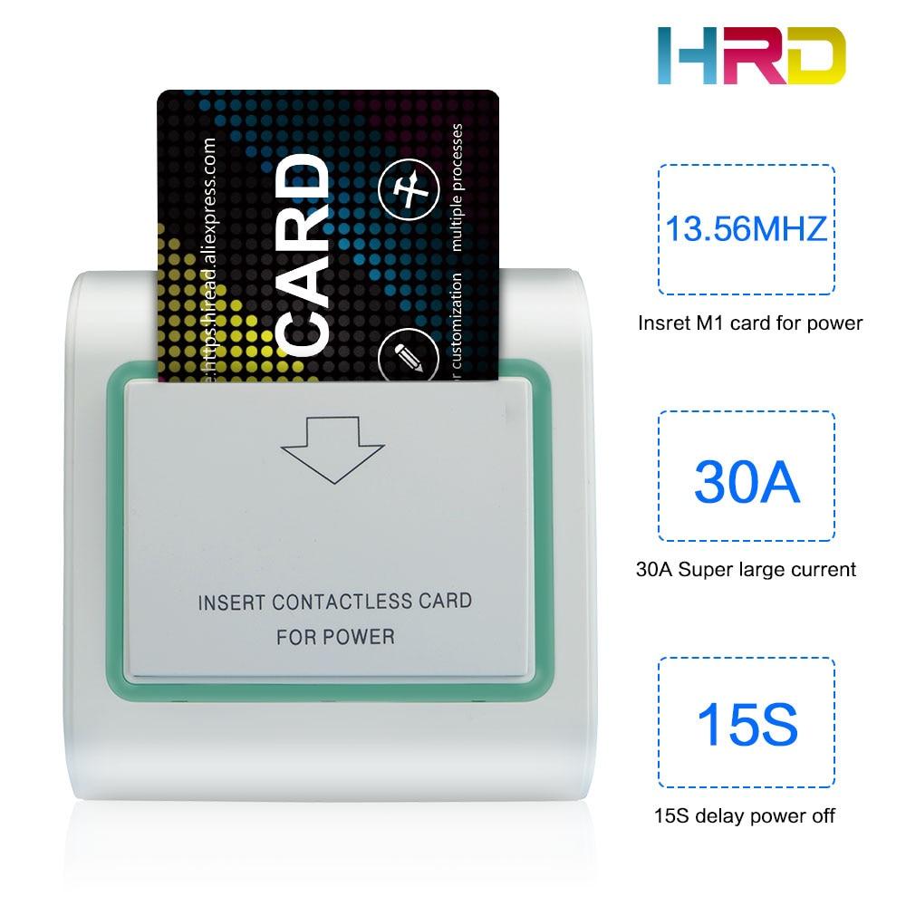 White Green Side 13.56MHz Hotel Card Switch Rfid Room Key Holder Insert Keycard To Take Power