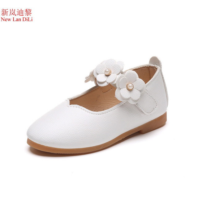 f83c850a5 2018 flower fashion girls shoes new brand flat with leather baby shoes  elegant high quality children kids shoes toddlers