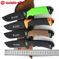 HOT SELLING GANZO G8012 Fixed Blade Knife With Sharper Rope Cutter Camping Hunting Survival Tactical Bushcraft Knives Multitool