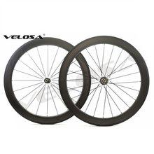 Velosa 454 58mm rodas de ondulação, rodas de carbono 700c bicicleta de estrada, trilha de freio especial, clincher/versão tubular