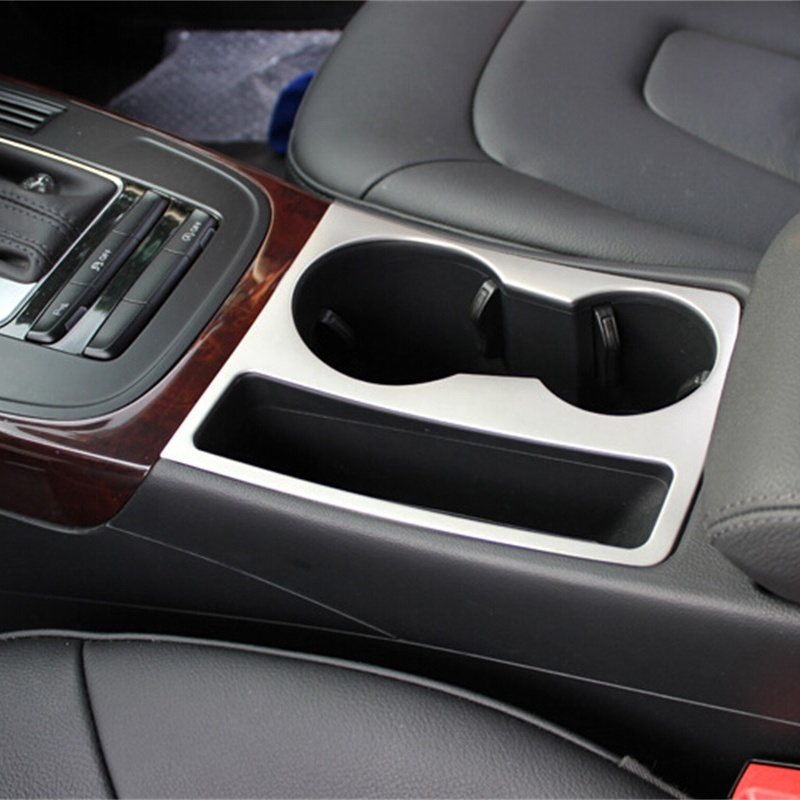 Cheetah Car Cup Holder decorative frame cover emblem Auto Chrome Stainless steel strip 3D sticker For Audi A5 A4 Accessories 400ml stainless steel auto stirring mug electric coffee mixing cup drinking cup furniture accessories
