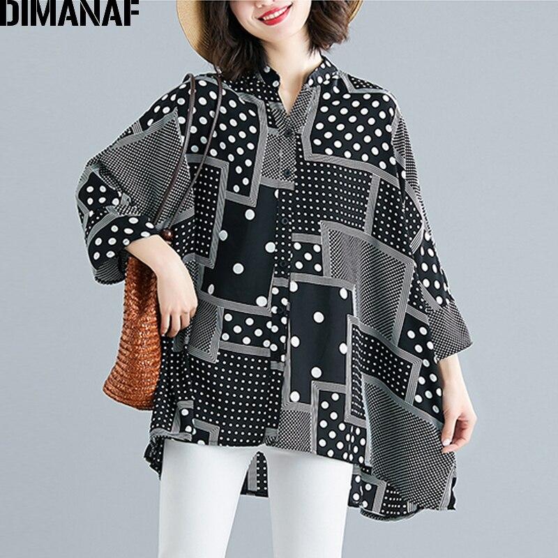 Chiffon Summer Polka Dot Big Size Loose Batwing Female Clothes 2