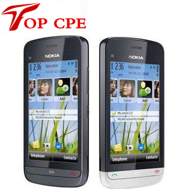 Reformado nokia c5-03 c5-03 original wifi gps 5mp 3g bluetooth unlock cellphoneone año