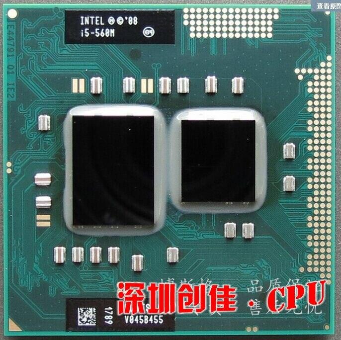 Free shipping Mobile InteI core I5 560m I5-560m Dual Core 2.66GHz L3 3M PGA 988 PGA988 CPU Processor works on HM55