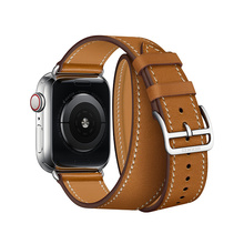 Series 4/3/2/1 Extra Long Leather strap For Apple Watch Double Tour Band WristStrap 38mm 40mm 42mm 44mm For iWatch leather band цена