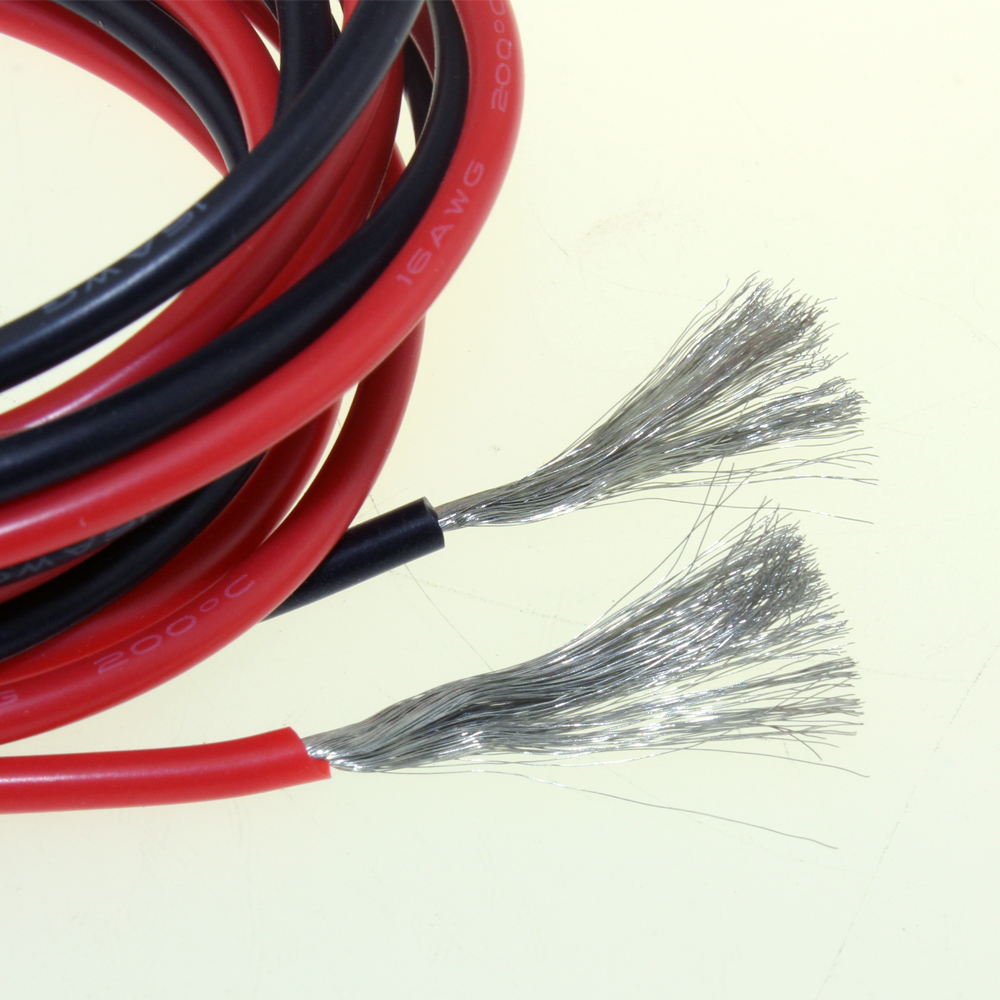 Tool Parts 1 Meter Red+1 Meter Black Silicon Wire 12awg 14awg 16awg 18awg 20awg 22awg 24awg Heatproof Soft Silicone Silica Gel Wire Cable