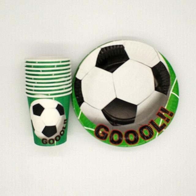 40pcs\\lot Worldcup Party Sets Football Theme Tableware Paper 20pcs Plates+20pcs Cups Birthday & 40pcs\\lot Worldcup Party Sets Football Theme Tableware Paper 20pcs ...