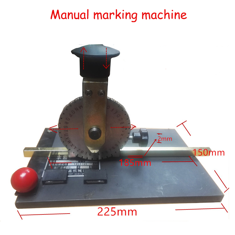 Marking machine metal plate printer hand - held signage machine manual marking machine steel alphanumeric alphabet JTK-508 3 76mm cast iron cover marking machine stylus for stainless steel marking machine