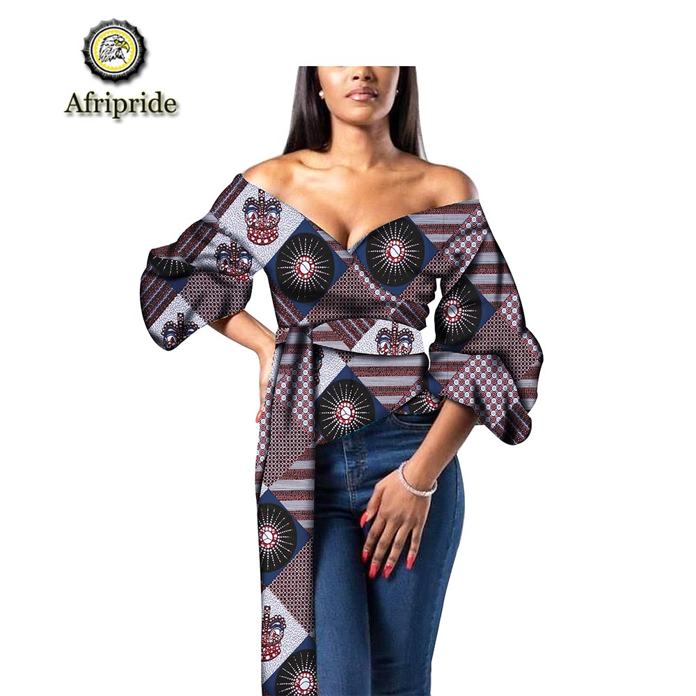 2019 AFRIPRIDE african clothes for women free shipping new fashion design bazin riche plus size deep V neck sex party S1924003 in Trench from Women 39 s Clothing
