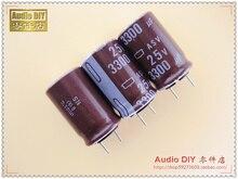 30 ШТ. Япония Химическая ASV Серии 3300 мкФ/25 В электролитические конденсаторы для аудио бесплатная доставка