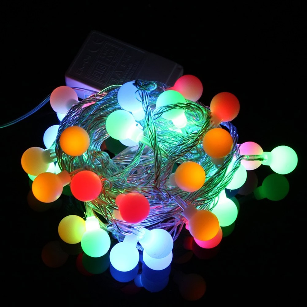 Solar christmas decorations - 50 Led Ball String Lights Solar Powered Christmas Light Patio Lights Lighting For Home Garden Lawn Party Decorations