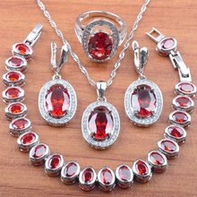 Exquisite 925 Sterling Silver Jewelry Sets Party Costume Engagement jewelry Cubic Zirconia Necklace/Ring/Earrings/Bracelet JS093(China)