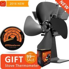 Бесплатный Подарок Магнитная Плита Термометр с Тепловой Питание Плита Вентилятора Эко Древесины Плита Вентилятора