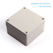 Free shipping  125*125*75mm ip66 Waterproof ABS plastic box Use for Switch Box/Controll Box