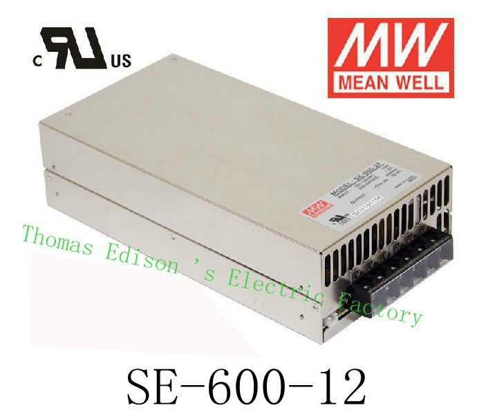 Original MEAN WELL 600W 12V 50A power supply unit ac to dc power supply SE-600-12  MEANWELL meanwell 12v 350w ul certificated nes series switching power supply 85 264v ac to 12v dc