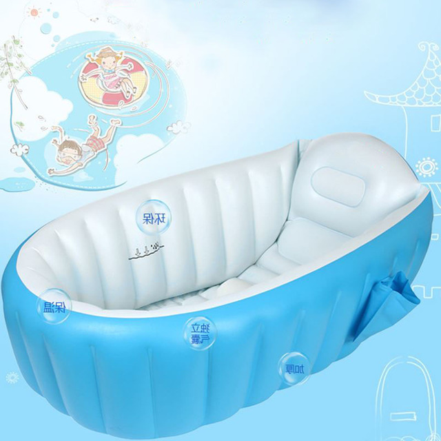 Portable bathtub 98X65X28cm inflatable bath tub Child tub cushion ...