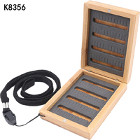 K8356 Fishing Tackle Box Hook Compartments Storage Case Outdoor Fishing Swivels Lure Bait Double Layer Fishing