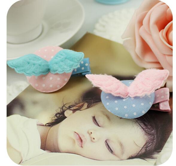 1 Stück Engel Flügel Solide Bb Clip Haarspange Baby Haarband Kinder Mädchen Haarnadel Kinder Haarschmuck Freies Schiff Fd119
