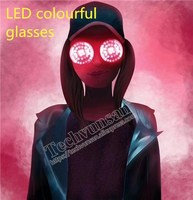RAVE LED luminescence Rounded eyeglasses REZZ Circle light Music Festival Disco Sunglasses Party Bar