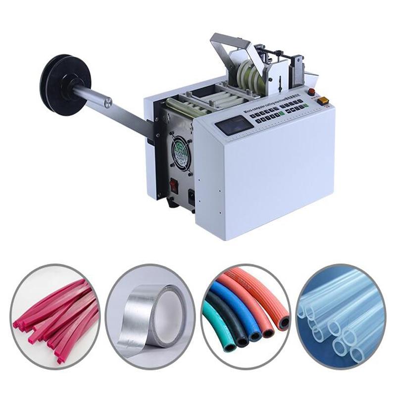 Dg-100b Máquina Automática De Corte De Tubos De Ordenador Tubo Retráctil De Calor Teflón De Gel De Sílice Cuerda De Alambre De Pvc Superficie Lustrosa