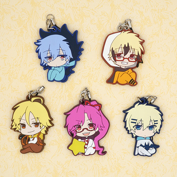 Servamp Anime VAMPIRE KURO TETSU Snow Lily HYDE Japanese Rubber Keychain embroidery