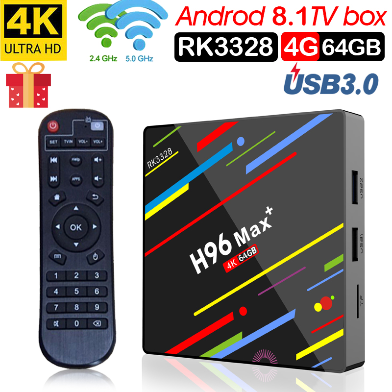 H96 Max plus Smart TV box Android 8.1 IPTV supporto 4 K 4 GB di RAM 32 GB 64 GB di ROM wiFi 2.4G/5G & BT Android IPTV Box pk X96H96 Max plus Smart TV box Android 8.1 IPTV supporto 4 K 4 GB di RAM 32 GB 64 GB di ROM wiFi 2.4G/5G & BT Android IPTV Box pk X96