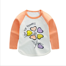 Baby Boys Girls T-shirts Children Clothing Tees Girl Long Sleeve Tops Cartoon Animal Kids Clothes T shirt Toddler Boy Sweatshirt