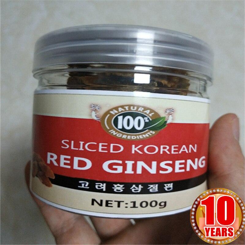 10 Years Old Natural Korean Red Panax Ginseng Slices Hong Shen Radix Ginseng Rubra 100 Origin