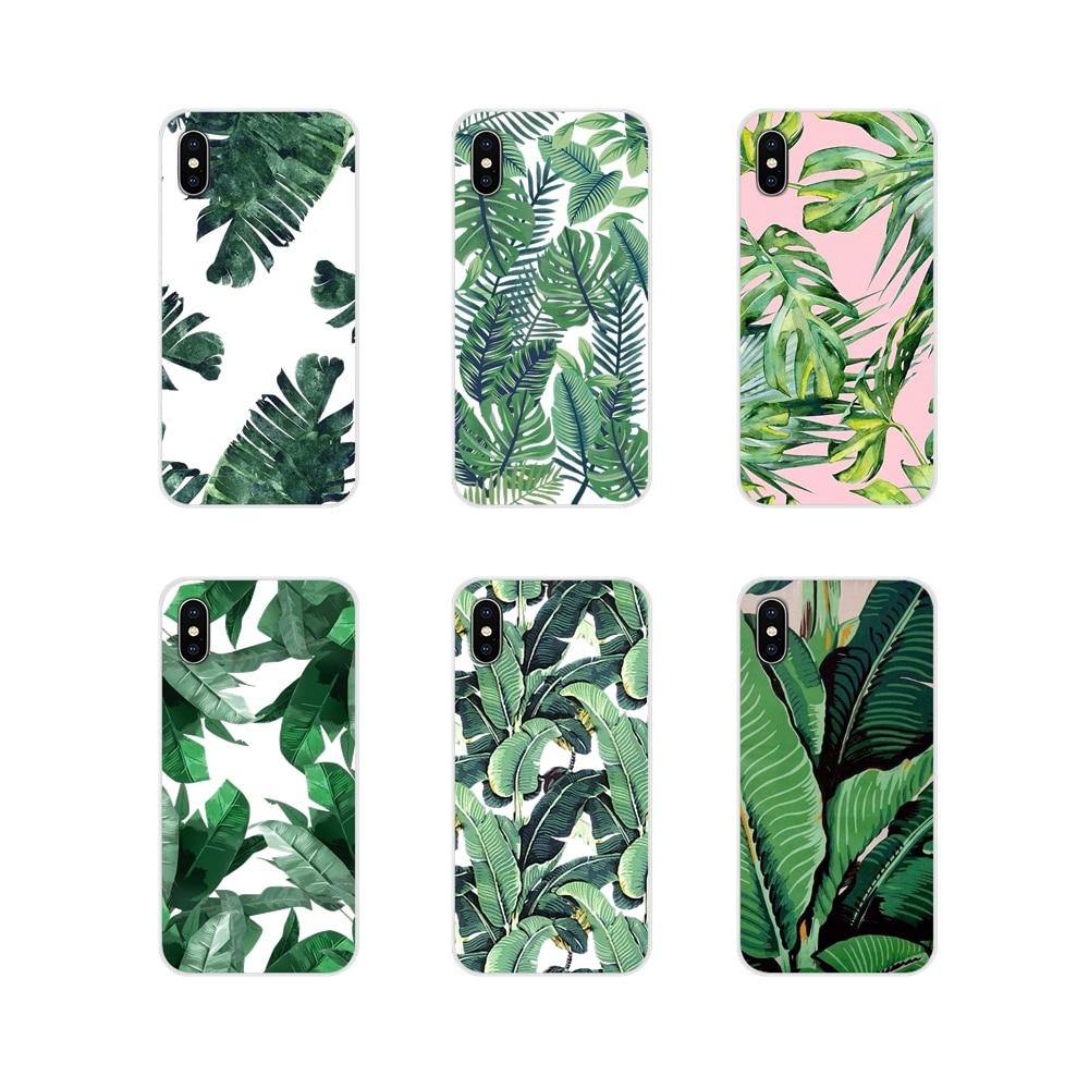 Silicone Phone Case Covers For Motorola Moto X4 E4 E5 G5 G5S G6 Z Z2 Z3 G G2 G3 C Play Plus Tropical Plants Cactus Banana Leaves