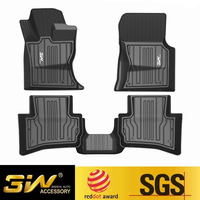 Car floor mats For JAGUAR F Pace/XE with 3w Customized Special tpe mat,black