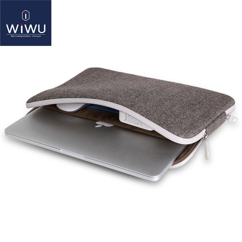 WIWU 2018 Funda para laptop para MacBook Pro 13 Funda para laptop a prueba de golpes de fieltro suave para MacBook 11 12 13.3 15.4 pulgadas Bolsas de bolsillo interior