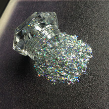 1 Jar Mixed Size Holografische Pailletten Chrome Eenhoorn 3D Laser Super Shining Nail Poeder Glitter Spangles Voor Gel Nagellak diy