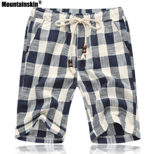 Шорты Mountainskin мужские повседневные в клетку, хлопок, модные короткие штаны, Спортивная брендовая одежда, размеры до 5XL, SA664, на лето