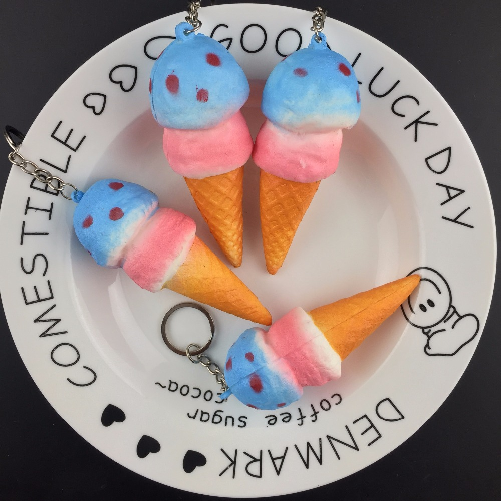 10CM kawaii soft scented squishy slow rising ice cream squeeze antistress fun toys cell phone keys pendant cute squishies bread