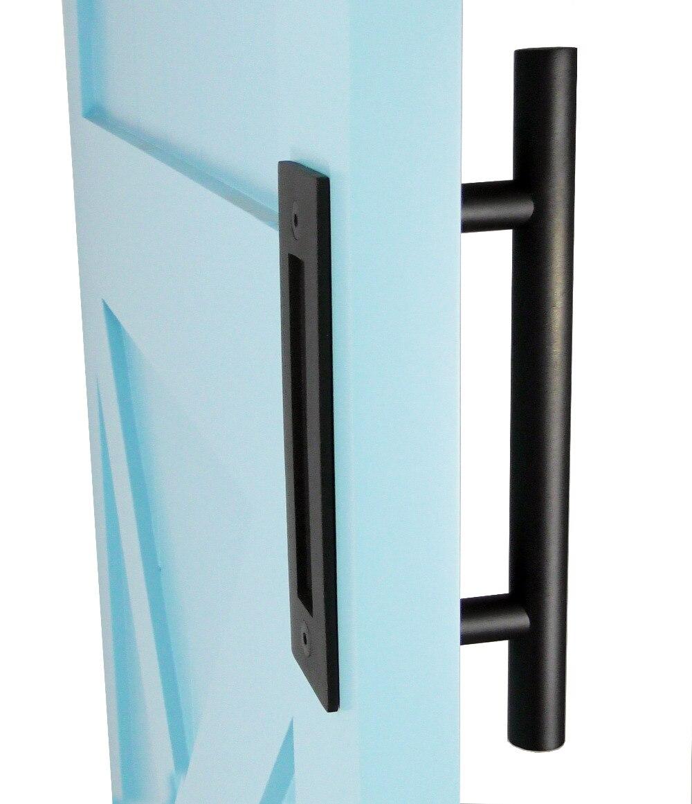 DIYHD 305mm Nero Barn Door Handle Pull Due Lato Porta Scorrevole In Legno Maniglia ManopolaDIYHD 305mm Nero Barn Door Handle Pull Due Lato Porta Scorrevole In Legno Maniglia Manopola