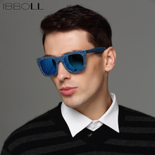 Фотография ibboll Fashion Cool Wrap Sunglasses Men Polarized Sun Glasses For Male Vintage Round Glasses Luxury Brand Mens Oculos De Sol