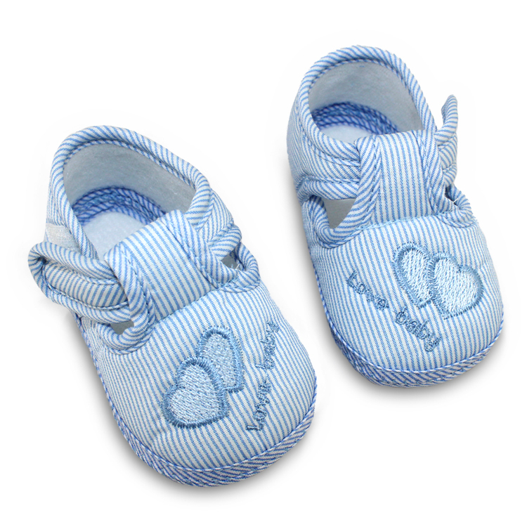 Spring Autumn Baby Shoes Sweet Striped Antiskid Toddlers Shoes Cute First Walkers Baby Boys 0-12 Months