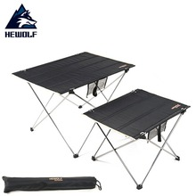 Hewolf Outdoor Ultralight Portable Table Aluminum Alloy Oxford Cloth Folding Table for Camping Barbecue Picnic 70 70 69cm aluminum alloy folding table portable outdoor barbecue table camping table picnic desk