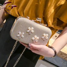 2018 New Fashion Peal Flag Messager Bag Small Wallet Clutch Bag Chain Shoulder Bag Evening Part Bag Gril's Crossbody Totes Purse