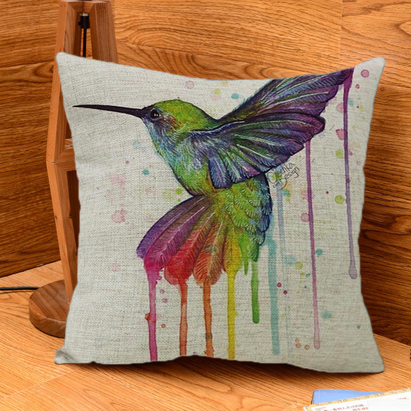 Hot sale cute cartoon colorful bird pillows style cushions for Home decor items on sale